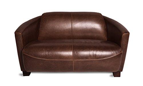 Ledersofa Clubsofa Ledercouch Lounge Sofa Couch Zweisitzer braun antik vintage