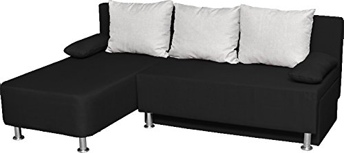 vcm 900063 ecksofa magota couch mit schlaffunktion schwarz wohnlandschaft g nstig kaufen. Black Bedroom Furniture Sets. Home Design Ideas