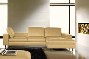 Lucca V1 Ledersofa mit umsteckbaren Rückenkissen Ecksofa - moebelhome Voll-Leder Sofa