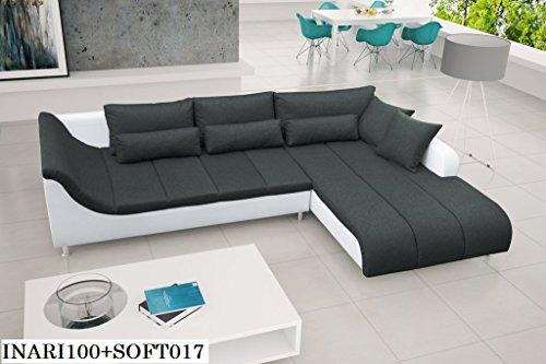 ECKSOFA Couch ohne Schlaffunktion Eckcouch Polstergarnitur Wohnlandschaft -AXE