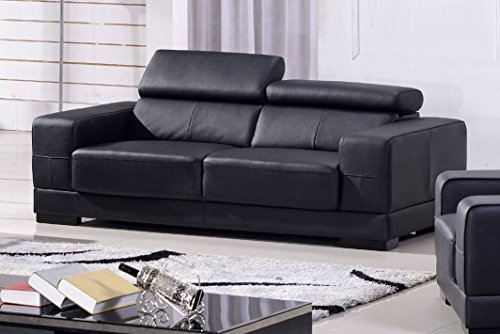Voll-Leder Sofa 3-Sitzer Ledersofa Sessel Dreisitzer Couch 2017-3-S