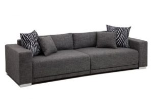 B-famous Big Sofa London-XXL Struktur grau, 287 x 103 cm,