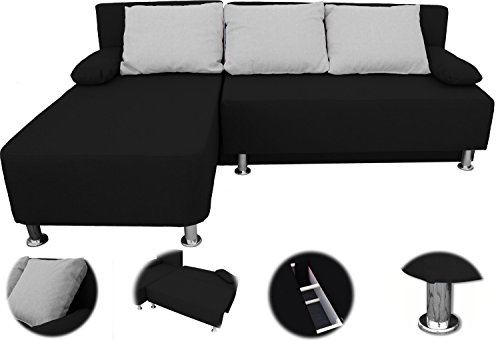 onux ecksofa couch mit schlaffunktion schwarz wohnlandschaft g nstig kaufen. Black Bedroom Furniture Sets. Home Design Ideas