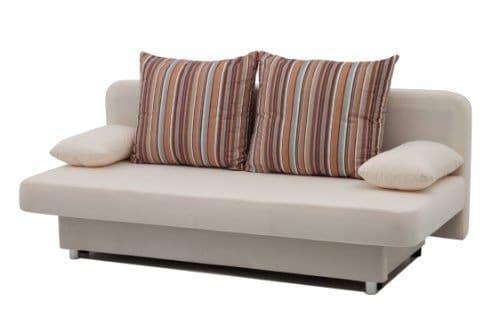 b famous schlafsofa orlando 186 x 85 cm mikrofaser beige. Black Bedroom Furniture Sets. Home Design Ideas