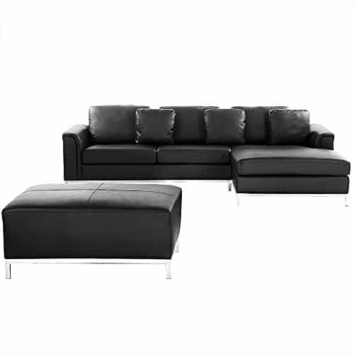 ledercouch schwarz ecksofa eckcouch l ledersofa oslo wohnlandschaft g nstig kaufen. Black Bedroom Furniture Sets. Home Design Ideas