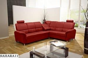 ECKSOFA Couch mit Schlaffunktion Eckcouch Polstergarnitur Wohnlandschaft - DIANA