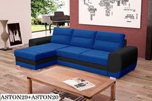 ECKSOFA Couch mit Schlaffunktion Eckcouch Polstergarnitur Wohnlandschaft - KIRII