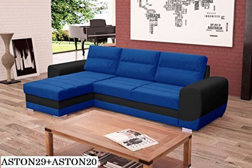 ecksofa couch mit schlaffunktion eckcouch polstergarnitur wohnlandschaft kirii. Black Bedroom Furniture Sets. Home Design Ideas