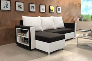 Preisknaller: Ecksofa Jola mit Bettfunktion Eckcouch Sofa Couch Schenkel tauschbar Schlafsofa