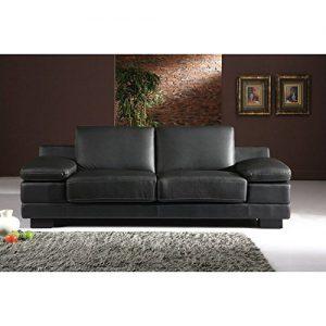 Designer Leder-Sofa-3 Sitzer Garnitur Bett-Couch 402-3-S