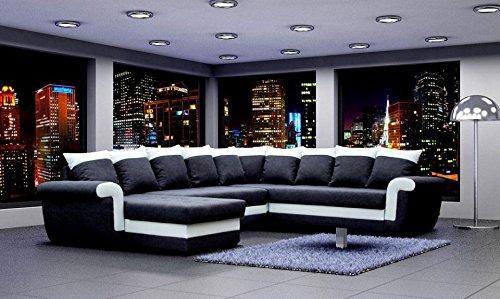gro ecksofa ivett mit schlaffunktion eckcouch sofagarnitur modern wohnlandschaft g nstig kaufen. Black Bedroom Furniture Sets. Home Design Ideas