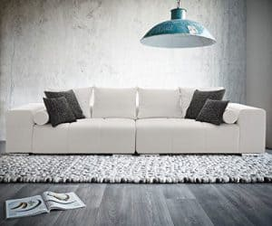 Bigsofa Marbeya 290 x 120 cm Weiss inklusive Kissen