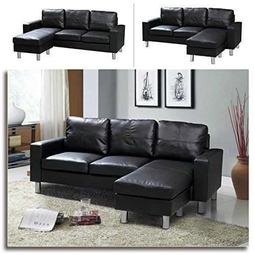 relax design ecksofa lounge sofa ledersofa relax liege wohnlandschaft schwarz. Black Bedroom Furniture Sets. Home Design Ideas