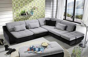 Loungesofa Wohnlandschaft Sofa Couch Ecksofa Eckcouch Plansofa Spike 5 Megapol
