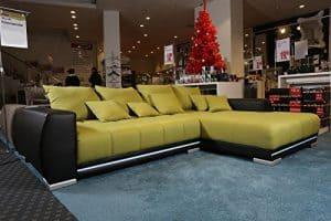 Ecksofa HiEnd LED Bluetooth Soundsystem Couch Sofa Eck Wohnlandschaft L Garnitur Polsterecke Sitzgruppe guenstiger
