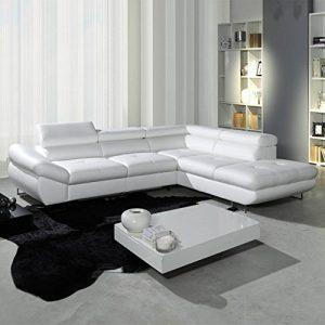 Polsterecke Sofa FABIO Wohnlandschaft mit Schlaffunktion Schlafsofa Schlafcouch Kunstleder Webstoff