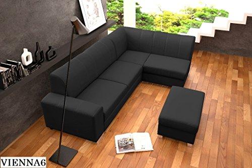ECKSOFA Couch mit Schlaffunktion Eckcouch Polstergarnitur Wohnlandschaft - MINISTER