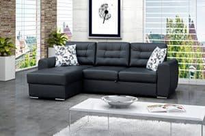 Ecksofa Baciatto Eckcouch Lounge Sofa Couch mit Bettfunktion Schlafsofa 3-Sitzer Couch Polsterecke
